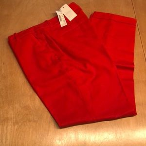 NWT!! JCREW Cafe Capri Orange Wool Slacks w/ Cuff